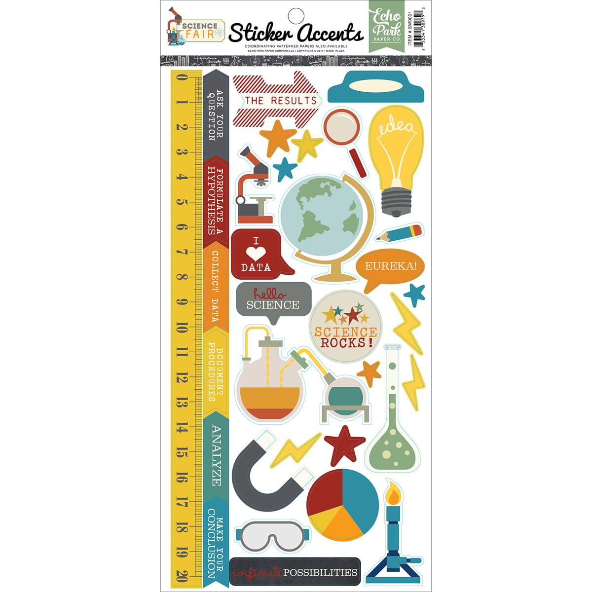 "Science Fair Stickers 6"" x 13"""