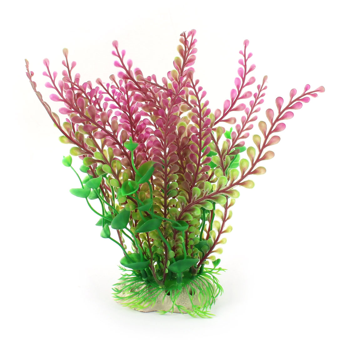 Aquarium Fish Tank Artificial Water Plant Grass Decor Beige Green Purple