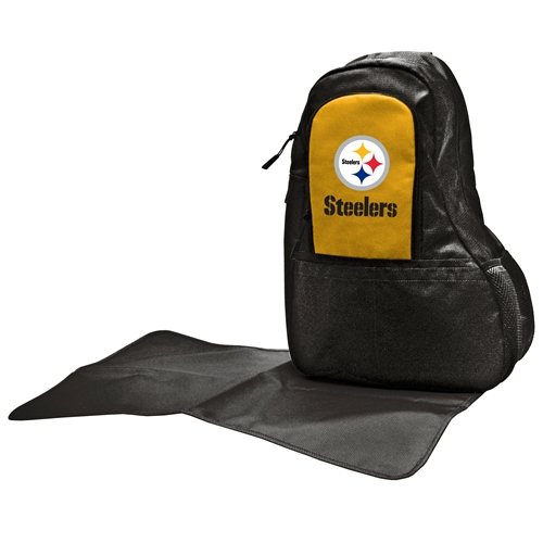 NFL Diaper Bag by Lil Fan, Sling Style - Pittsburgh Steelers