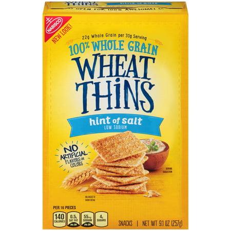 Nabisco Wheat Thins Hint of Salt Snacks, 9.1 Oz.