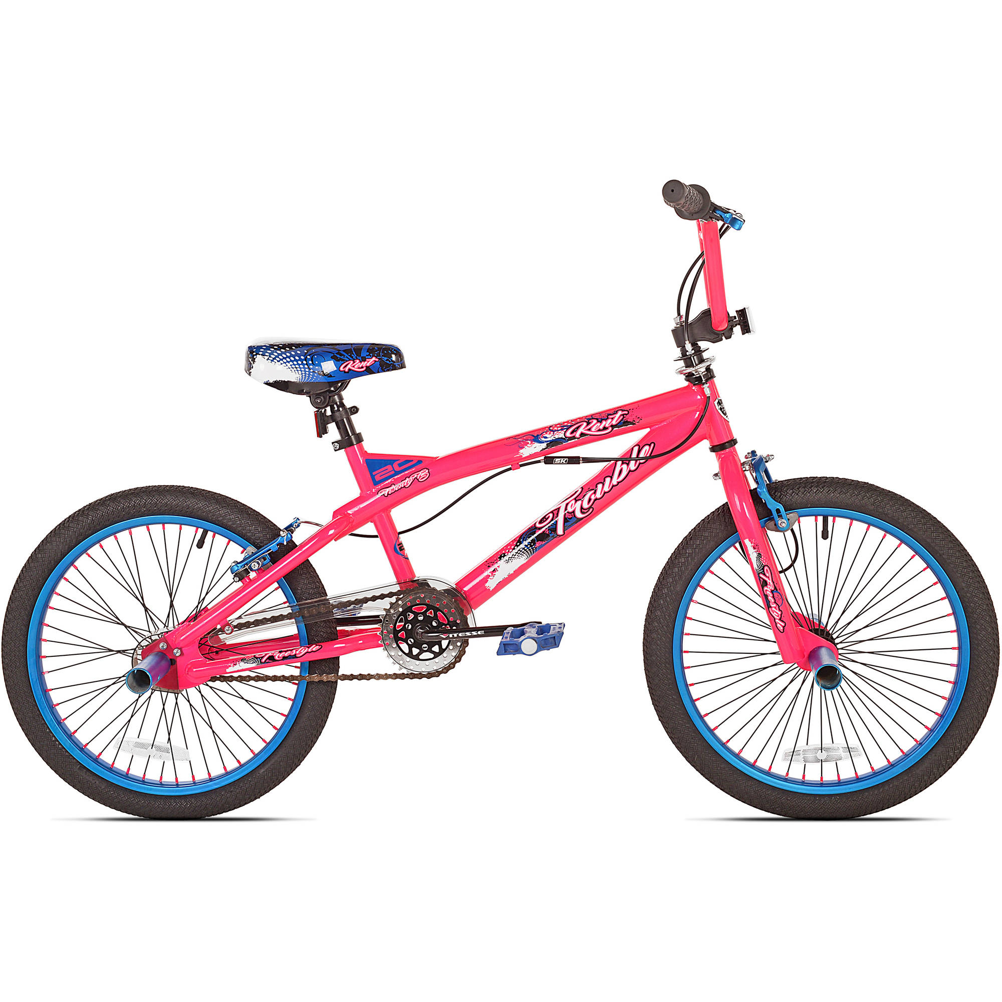 "20"" Kent Trouble Girls' Bike, Pink/Blue"
