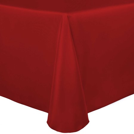 Ultimate Textile Bridal Satin 72 x 120-Inch Oval Tablecloth