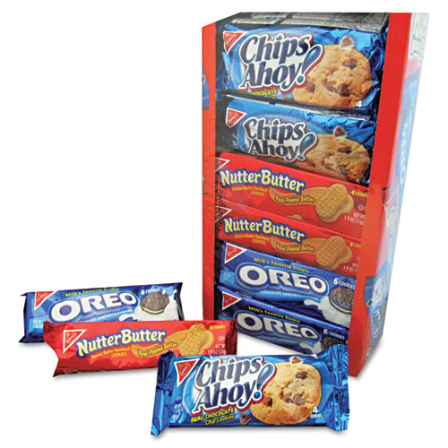 Nabisco Variety Pack Cookies, Assorted, 1 3/4oz Packs, 12 Packs/Box 88032