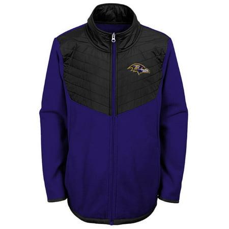 Youth Purple/Black Baltimore Ravens Polar Full-Zip Jacket ()