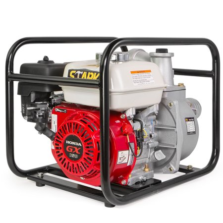 "Stark Industrial Gasoline Water Pump 3"" NPT Engine 4-Stroke Gas Recoil Gas-Powered Water Transfer Emergency Pump"