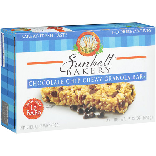 Sunbelt Chewy Chocolate Chip Granola Bars, 15 count, 15.85 oz