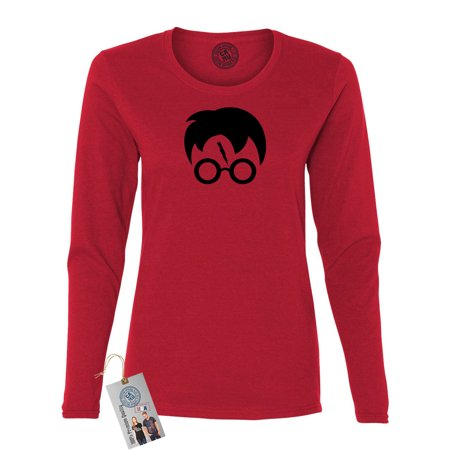 harry potter movie popular symbols head womens long sleeve shirt