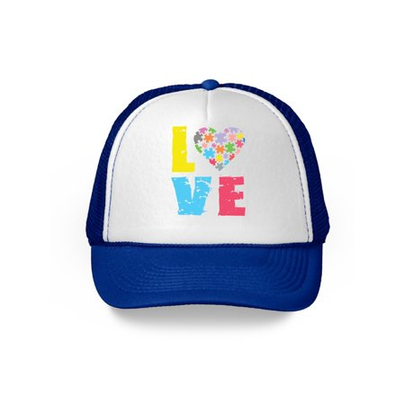 Awkward Styles Love Autism Puzzle Hat Autism Awareness Month Autism Love Cap Autism Love Hat for Men and Women Autism Hats Autism Support Gifts Autism Love Puzzle Hat Autism Puzzle Cap Autism Cap