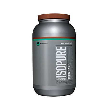 Isopure Zero Carb Protein Powder, Chocolate Mint, 50g Protein, 3