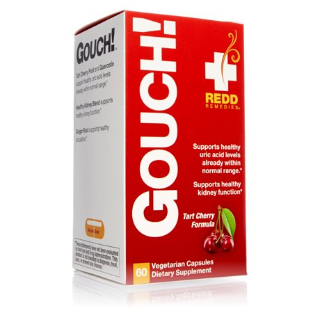 Redd Remedies Gouch - Supports Healthy Kidney Function - Promotes Healthy Uric Acid Levels - Contains Antioxidants - 60 Vegetarian