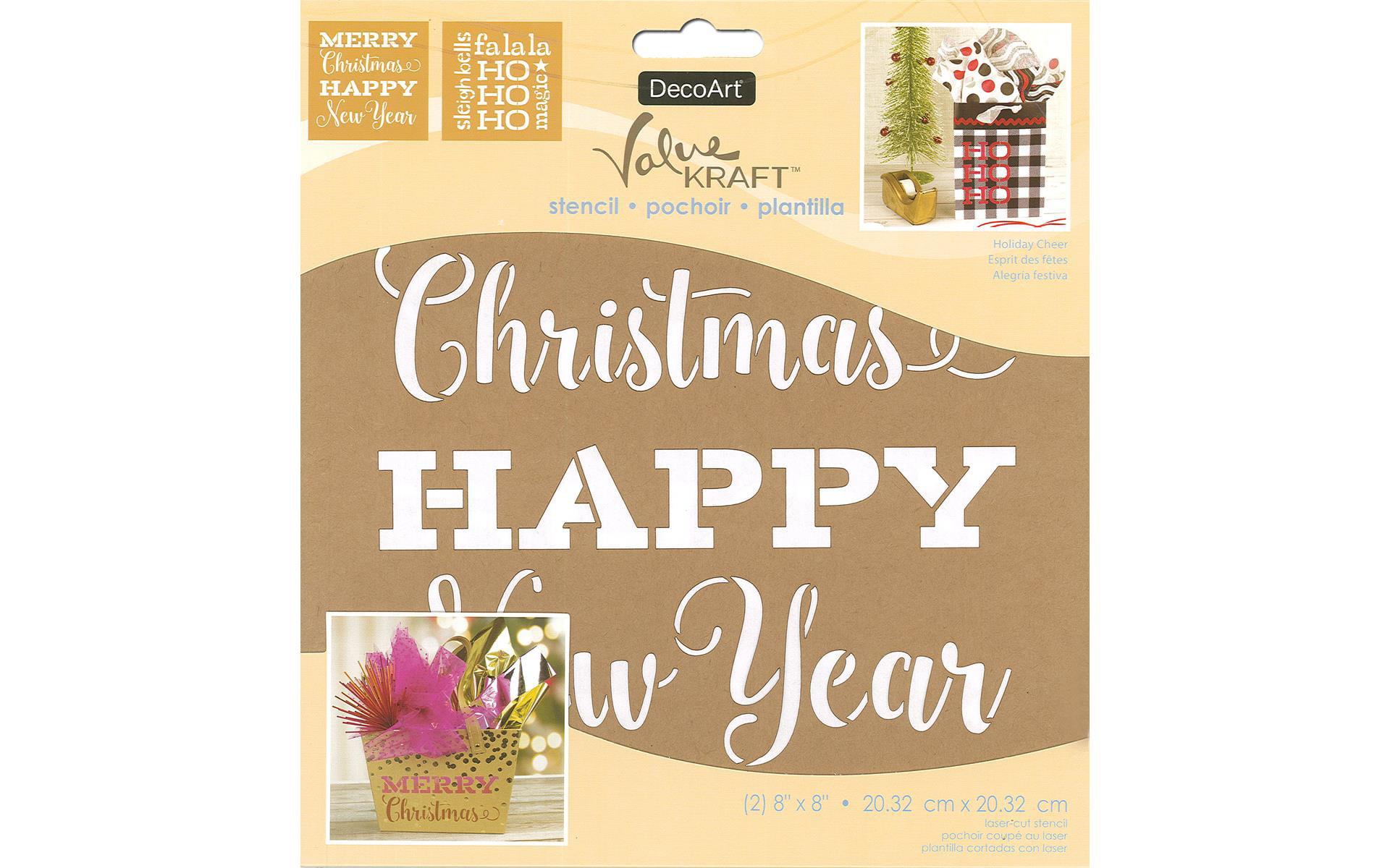 Decoart Value Kraft Stencil 8x8 Christmas