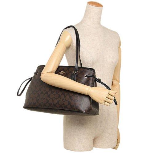 Coach - Coach F57842 Signature PVC Drawstring Carryall Tote Brown Black  Large Handbag - Walmart.com 8036735651c62