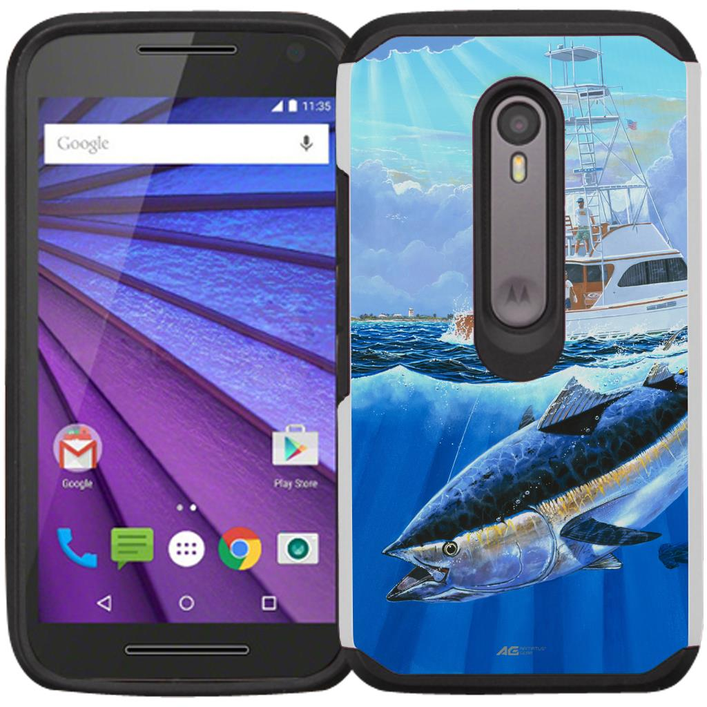 Moto G 3rd Generation Case - Armatus Gear (TM) Slim Hybrid Armor Case Protective Phone Cover for Moto G3 / Motorola G 3rd Gen (2015 Release)