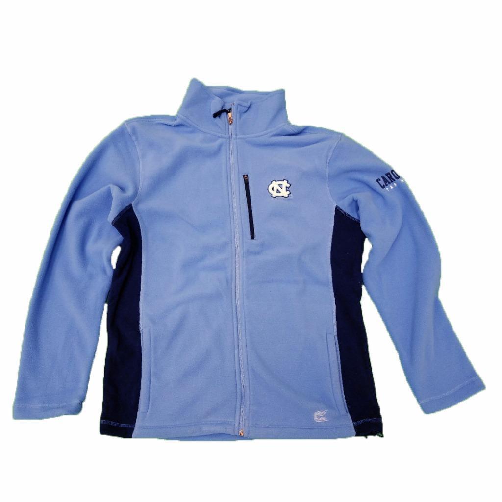 Mens NCAA UNC Tar Heels Full-zip Fleece Jacket (Team Color) by Colosseum