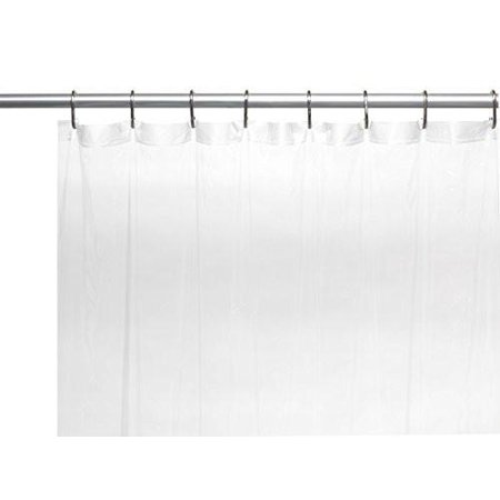 Splish Splash Extra Long 5 Gauge Vinyl Shower Curtain Liner With Metal Grommets In Frosty Clear