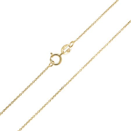 14K Gold Plated 925 Sterling Silver Diamond Cut Cable Chain 2MM Thin 20 Gauge Necklace For Women Made In Italy 16 18 In