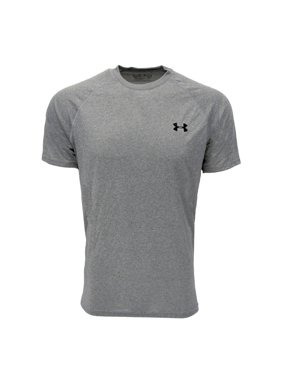 Men's UA TechTM Shortsleeve T-Shirt Tops by Extra Extra Large True Gray Heather/Black