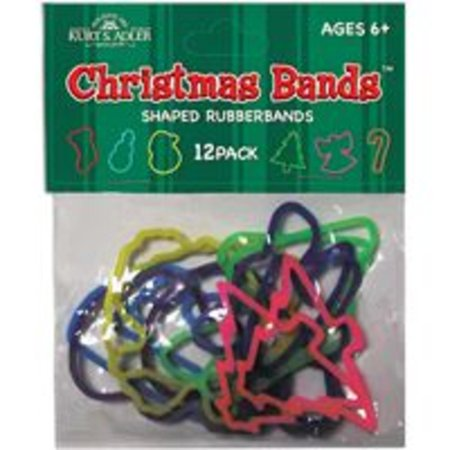 Club Pack of 576 Colorful Christmas Bands Silicone Rubber Bracelets