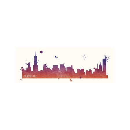 Chicago Windy City Print Wall Art By Anna Quach - Windy City Coupon