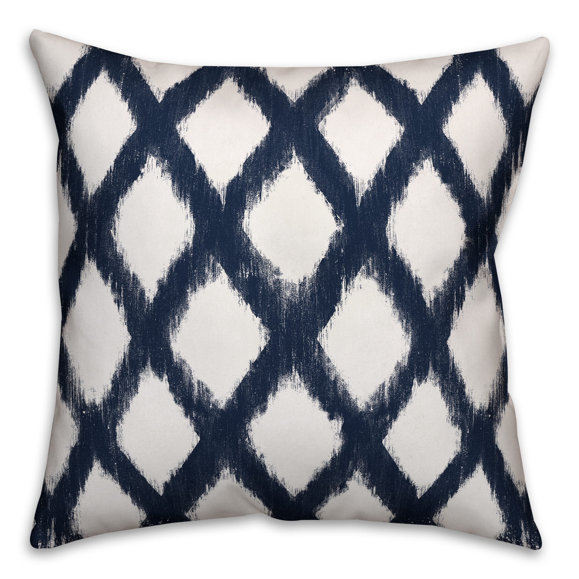 Navy Diamond Pattern 18x18 Spun Poly Pillow