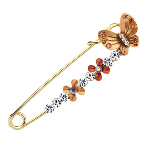KABOER 2019 New Vintage Versatile Peacock Shawl buckle Pin Female Fashion Butterfly Flower  Pins Animal Pins Brooches Jewelry Charm Butterfly Ruby Brooch