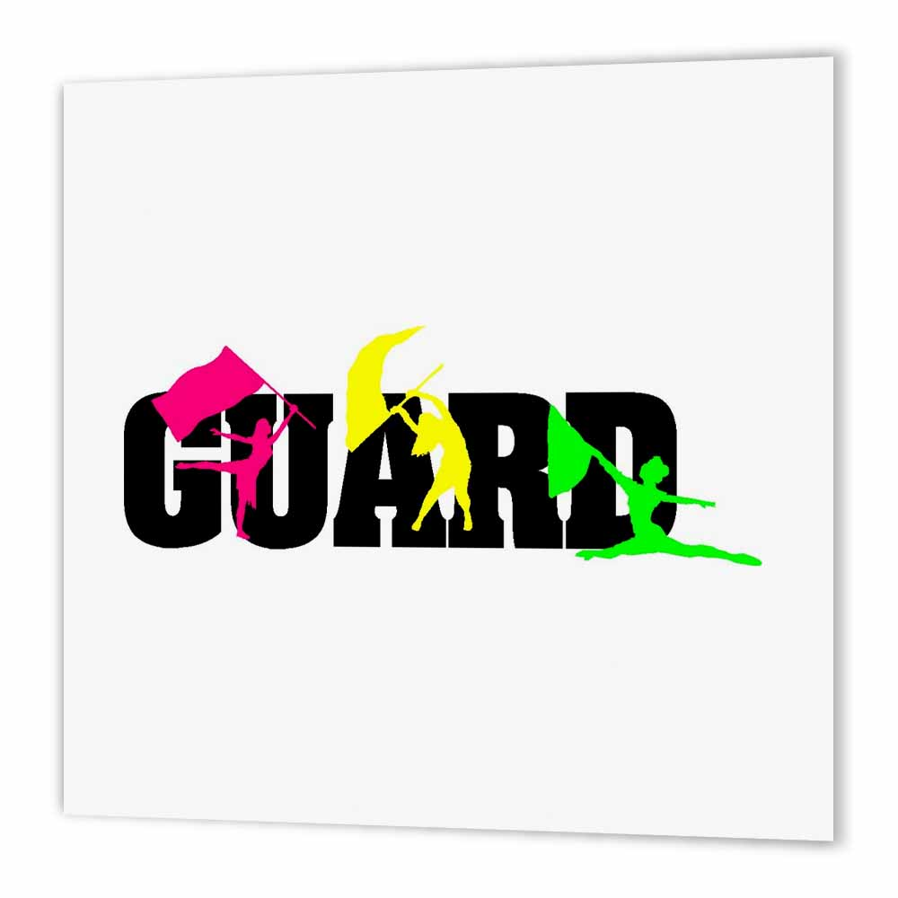 3dRose Color Guard, Iron On Heat Transfer, 6 by 6-inch, For White Material