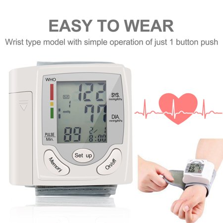 Blood Pressure Cuff Monitor Upper Arm, Auto Pulse Rate Systolic Diastolic BP Tracker, Irregular Heartbeat & Hypertension Detector, Backlit Display - image 4 of 8