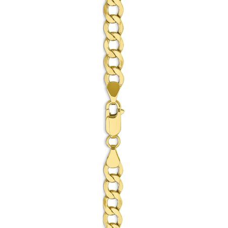 10k 6.5mm or jaune semi-solide cha?ne Curb Link - image 1 de 4