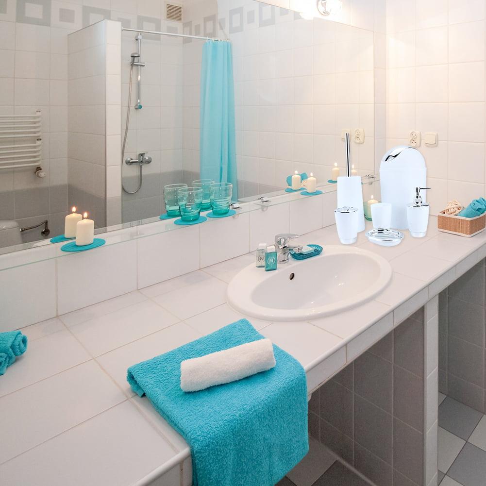 6 Piece Bathroom Accessories Set,Plastic Bath Ensemble Bath Set ...