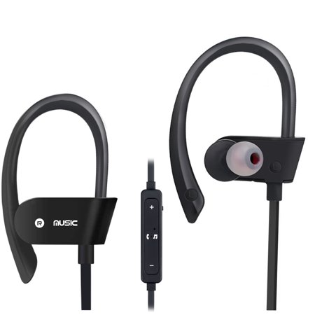 fd0d3340e8a Bluetooth Headphones, Wireless Sports Earphones w/ Mic IPX7 Waterproof HD  Stereo Sweatproof In Ear Earbuds for Gym Running Workout, 8 Hour Play Time  Noise ...