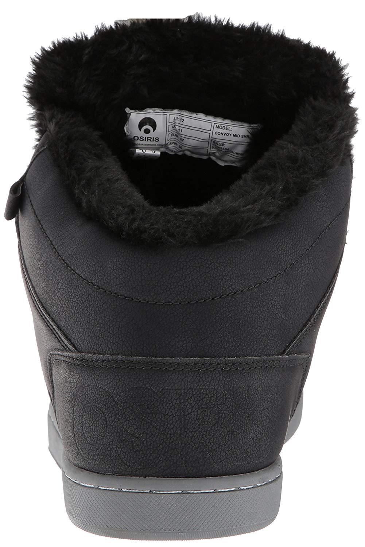 Osiris Convoy Mid SHR Skate Shoe, Black/Charcoal/Work, Size 5.0