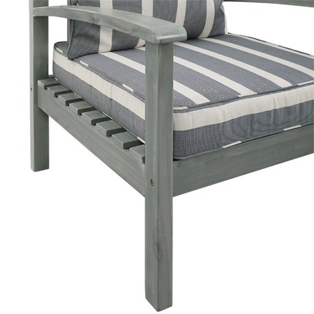 Walker edison angelo home 4 piece patio conversation set in ocean gray Angelo home patio furniture