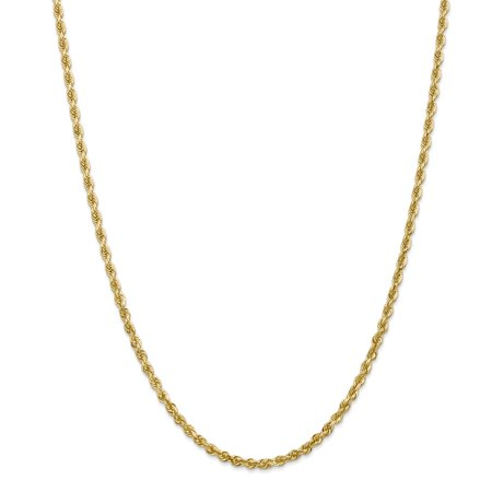 Contemporary Handmade Jewelry (14kt Yellow Gold 3.35mm Quadruple Link Rope Chain Necklace 22 Inch Pendant Charm Handmade Fine Jewelry Ideal Gifts For Women Gift Set From)