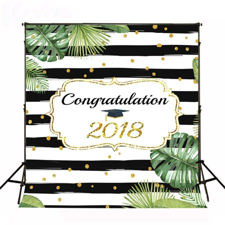 ABPHOTO Polyester 5x7ft 2018 Prom Photography Backdrop Graduation party Photo Backdrops black and white stripe Photography Backgrounds for - Prom Background