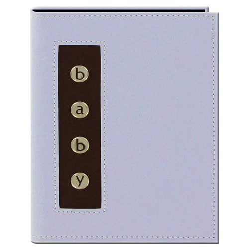 Pioneer BMB-46 4x6 Metal Buttons Brag Baby Photo Album Blue