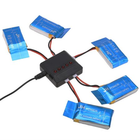 Drone Replacement Spare Parts 5 Battery   1 Usb Charger For Syma X5sw X5sc X5c  Bett