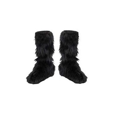 Black Fuzzy Boot Covers Child Halloween Costume - Deadpool Costume Boots
