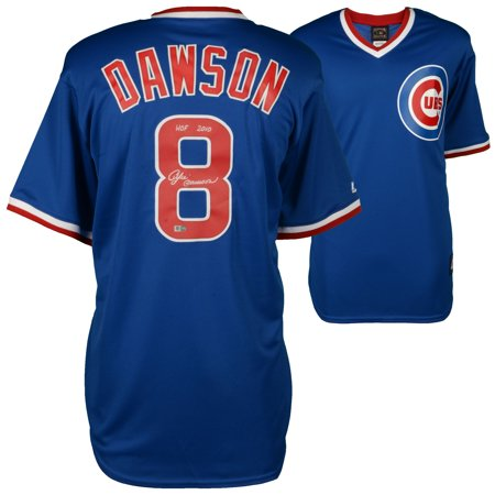 Andre Dawson Chicago Cubs Fanatics Authentic Autographed Majestic Blue Cooperstown Collection Replica Jersey with HOF 2010 Inscription - No Size