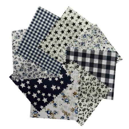 Handmade Diy Handkerchief Assorted Pre-Cut Fat Quarters Bundle Charm Cotton Quilt Fabric Handmade Clean Cotton