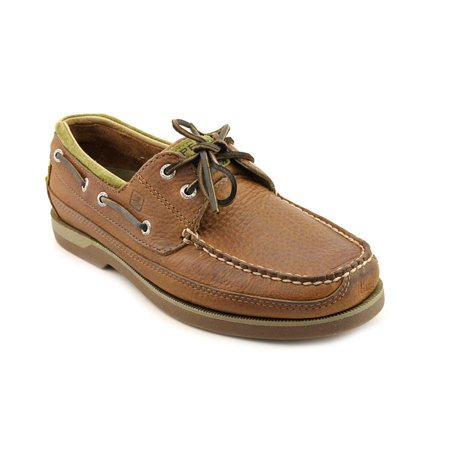 Sperry Top Sider Mako 2 Eye Men  Moc Toe Leather Brown Boat Shoe ()