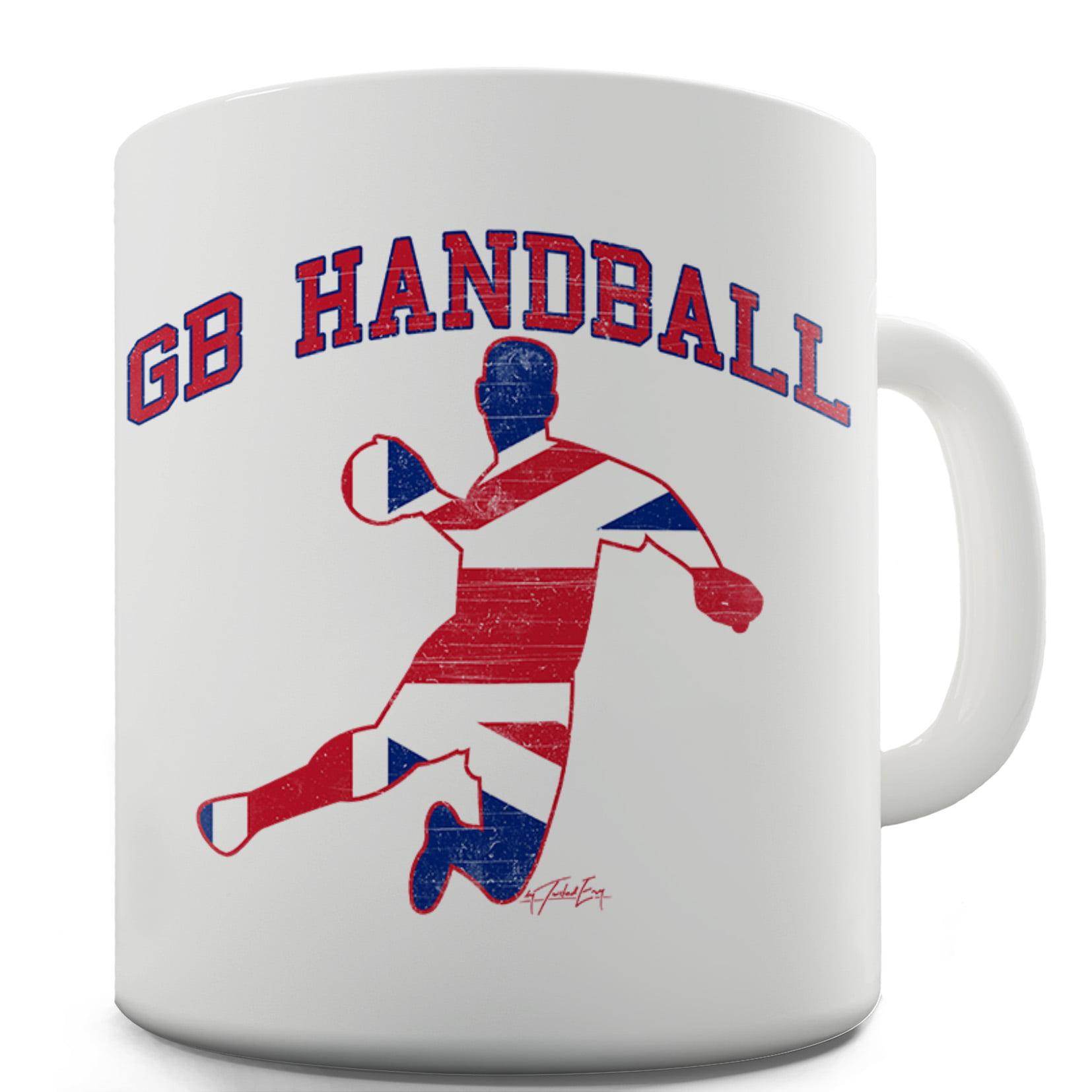 GB Handball Ceramic Funny Mug by Ink Rocks