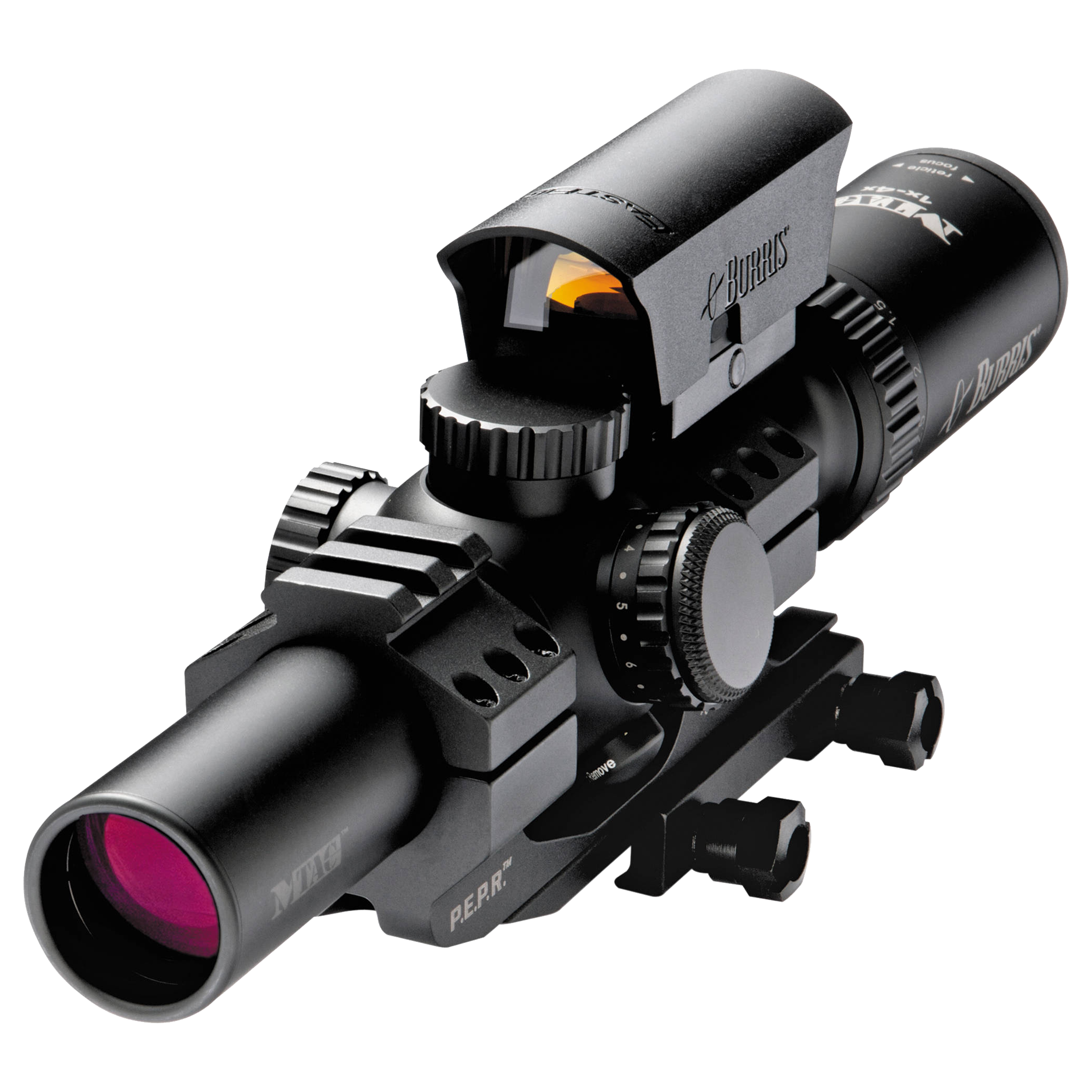 Burris M-Tac Riflescope 1-4x24mm, Illuminated, Fast Fire III,PEPR