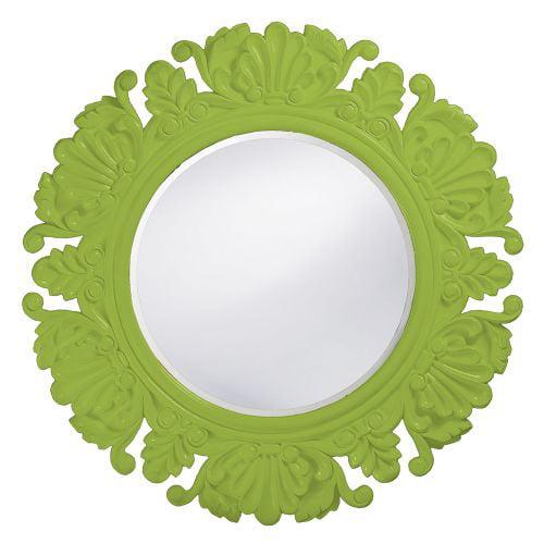 """Howard Elliott 51177MG Anita 44"""" x 44"""" Green Round Mirror by Howard Elliott"""