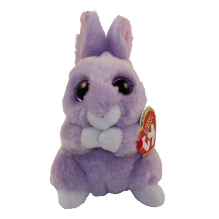 TY Basket Beanie Baby - APRIL the Purple Bunny (3 inch)