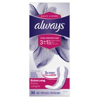 Always Discreet Incontinence Liners with OdorLock, Size 1, 30 ct