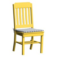 Radionic Hi Tech Cambridge Recycled Plastic Straight Back Patio Dining Chair