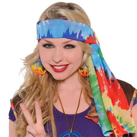 Groovy '60s Costume Party Hippie Tide Dye - 60s Hippie