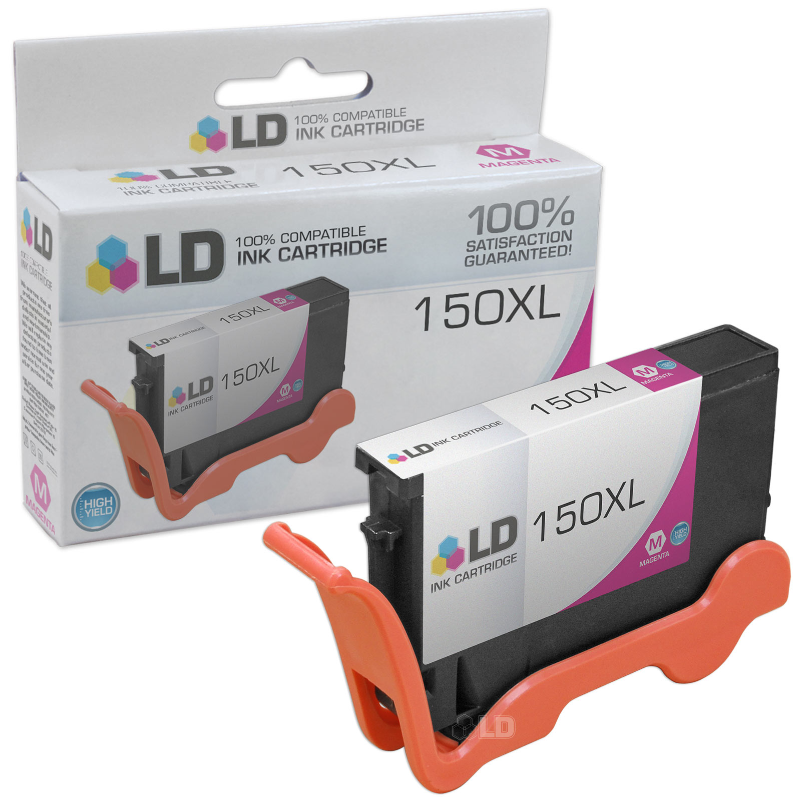LD Compatible Replacement for Lexmark 14N1616 150XL / 150 High Yield Magenta Inkjet Cartridge for use in Lexmark