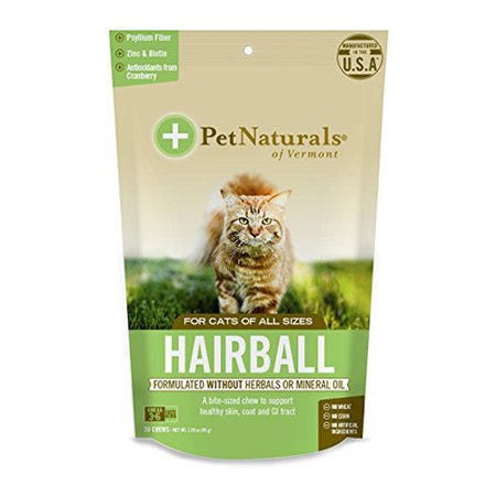 Pet Naturals Of Vermont Hairball Chews For Cats Of All Sizes, 30 Ea, 2 Pack