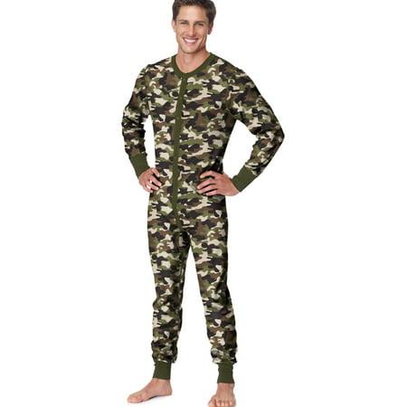 Hanes X-Temp Men`s Thermal Union Suit, 3XL, Camo - image 1 of 1